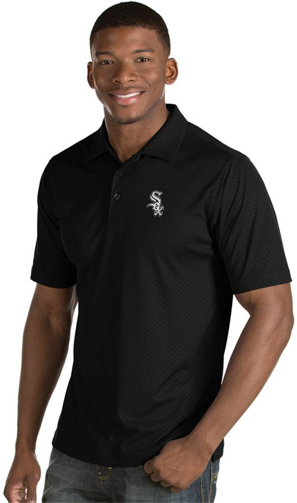 Antigua Men's Chicago White Sox Black Inspire Performance Polo product image