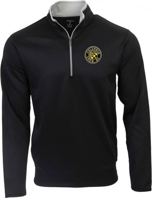 Antigua Men's Columbus Crew Leader Black Quarter-Zip Pullover product image