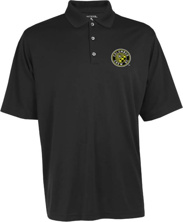 Antigua Men's Columbus Crew Exceed Black Polo product image