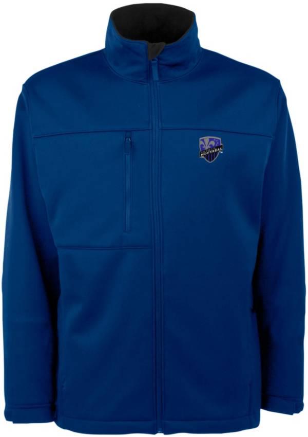 Antigua Men's Montreal Impact Traverse Royal Soft-Shell Full-Zip Jacket product image