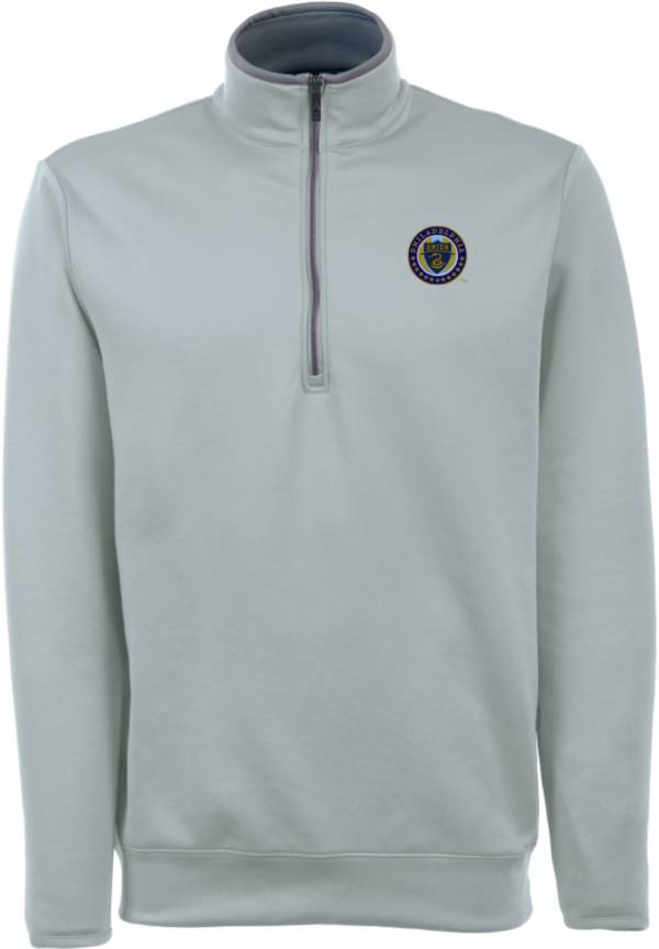 Antigua Men's Philadelphia Union Leader Silver Quarter-Zip Jacket product image