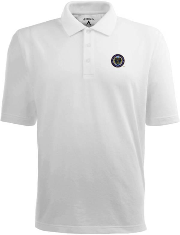 Antigua Men's Philadelphia Union Xtra-Lite Pique Performance White Polo product image