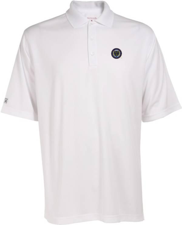 Antigua Men's Philadelphia Union Exceed White Polo product image