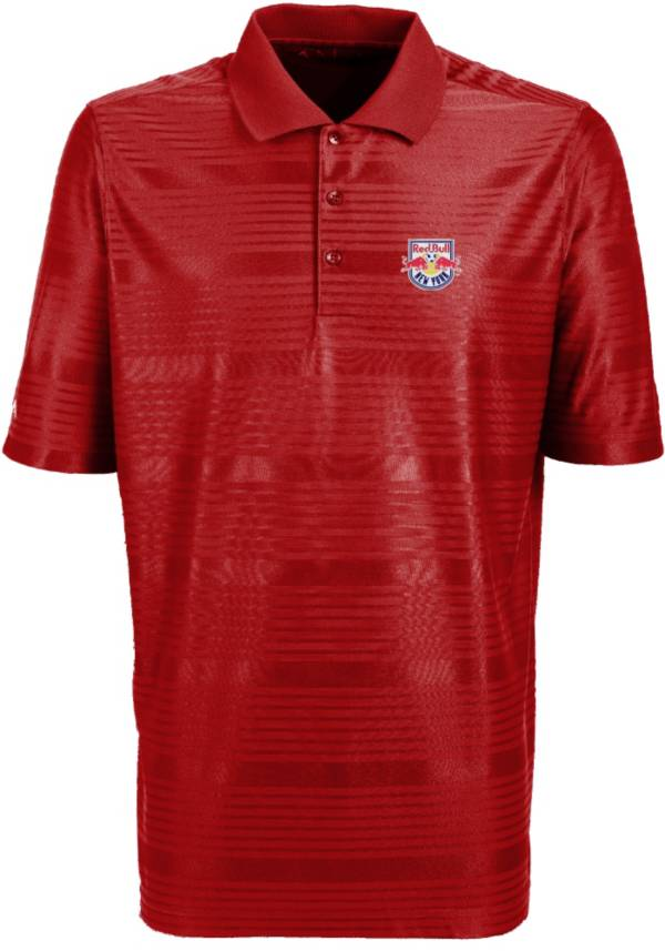 Antigua Men's New York Red Bulls Illusion Red Performance Polo product image