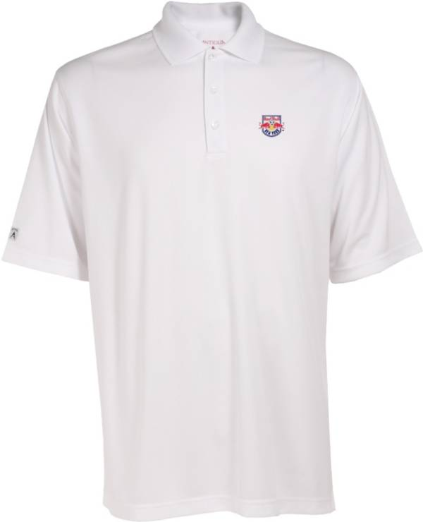 Antigua Men's New York Red Bulls Exceed White Polo product image