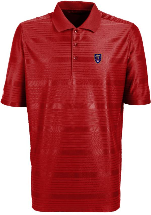 Antigua Men's Real Salt Lake Illusion Red Performance Polo product image
