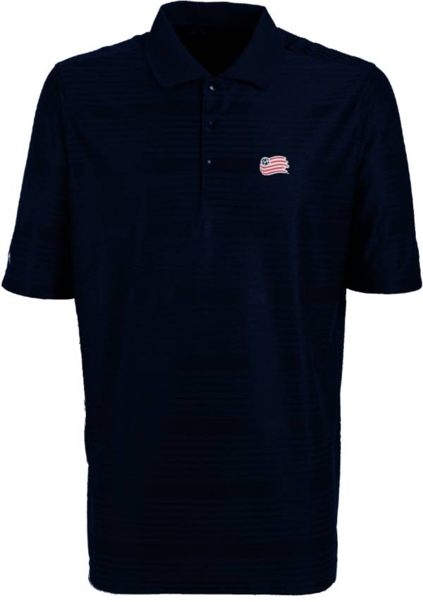Antigua Men's New England Revolution Illusion Navy Performance Polo product image