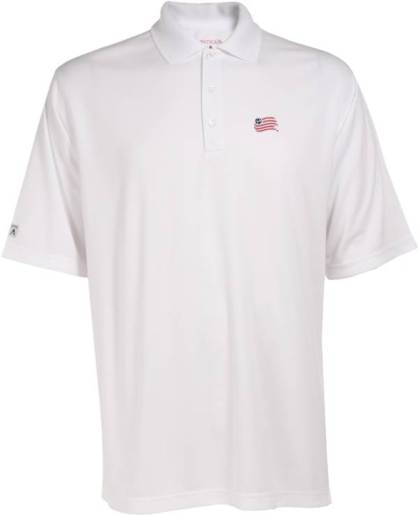 Antigua Men's New England Revolution Exceed White Polo product image