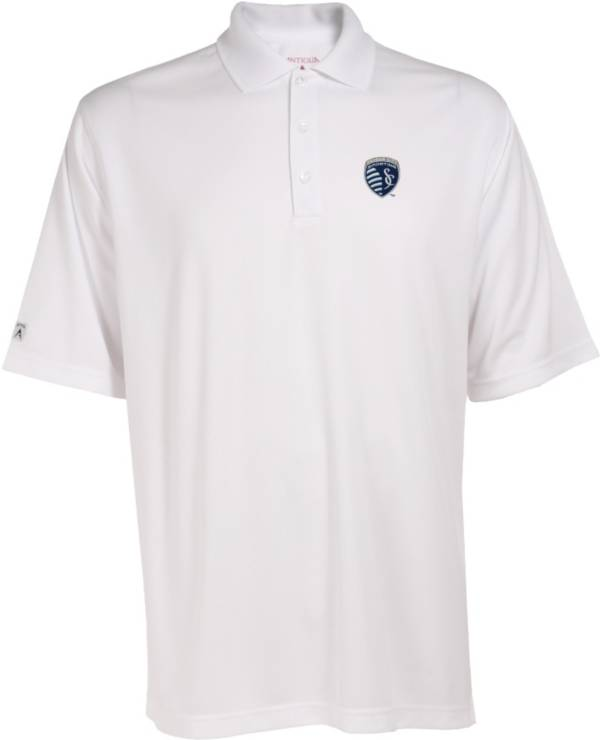 Antigua Men's Sporting Kansas City Exceed White Polo product image