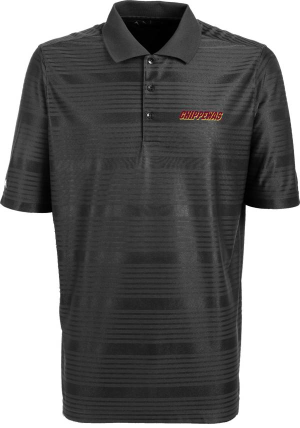 Antigua Men's Central Michigan Chippewas Grey Illusion Performance Polo product image