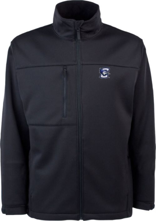 3a2114902b7 Antigua Men s Creighton Bluejays Black Traverse Full-Zip Jacket ...