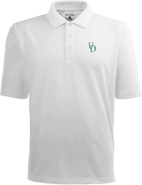 Antigua Men's Delaware Fightin' Blue Hens White Xtra-Lite Polo product image