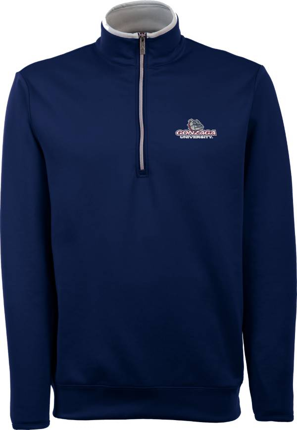 Antigua Men's Gonzaga Bulldogs Blue Long Sleeve Leader Pullover Shirt product image