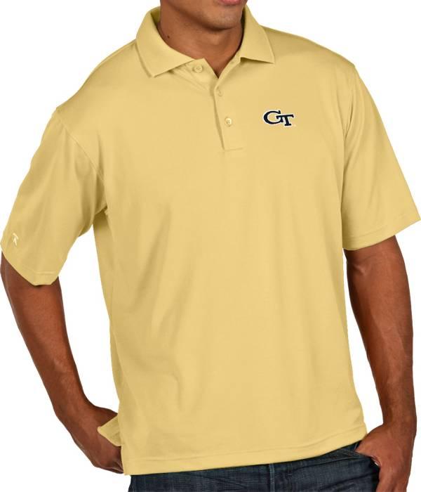 Antigua Men's Georgia Tech Yellow Jackets Gold Xtra-Lite Polo product image