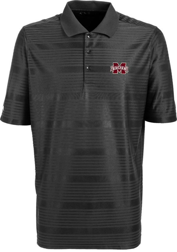 Antigua Men's Mississippi State Bulldogs Grey Illusion Performance Polo product image