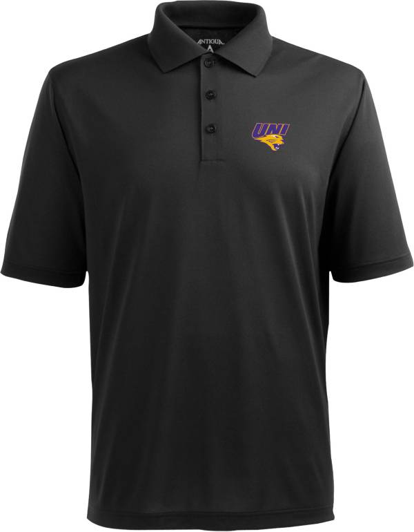 Antigua Men's Northern Iowa Panthers Black Xtra-Lite Polo product image