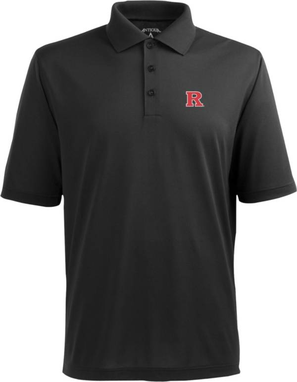 Antigua Men's Rutgers Scarlet Knights Black Xtra-Lite Polo product image