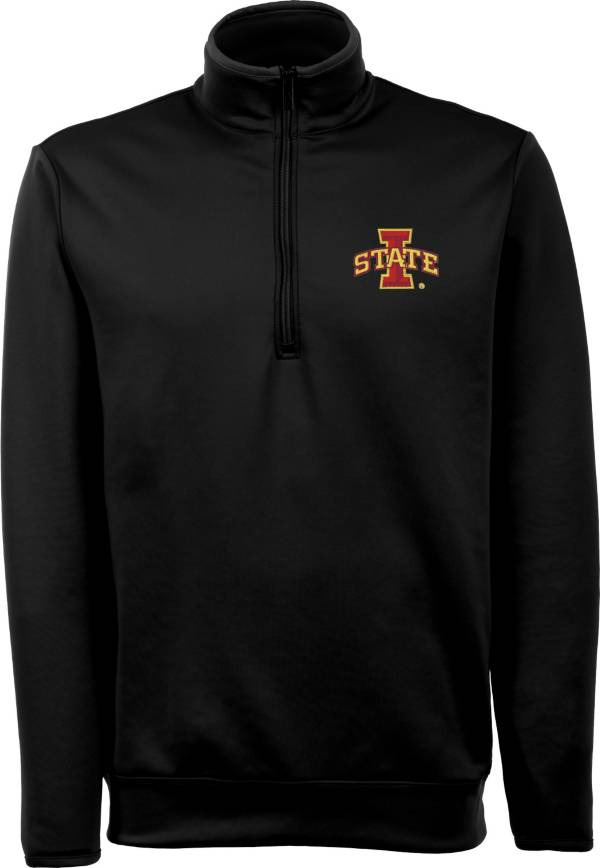 Antigua Men's Iowa State Cyclones Black Long Sleeve Leader Pullover Shirt product image