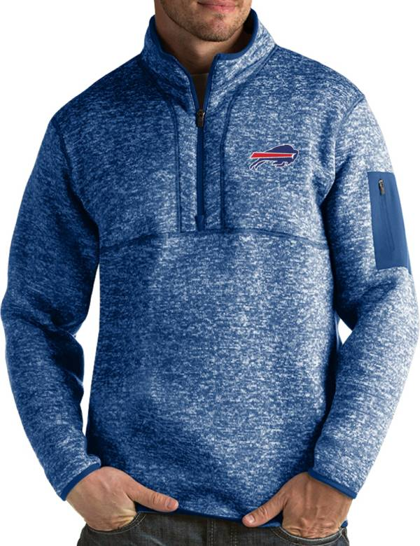 Antigua Men's Buffalo Bills Fortune Blue Pullover Jacket product image