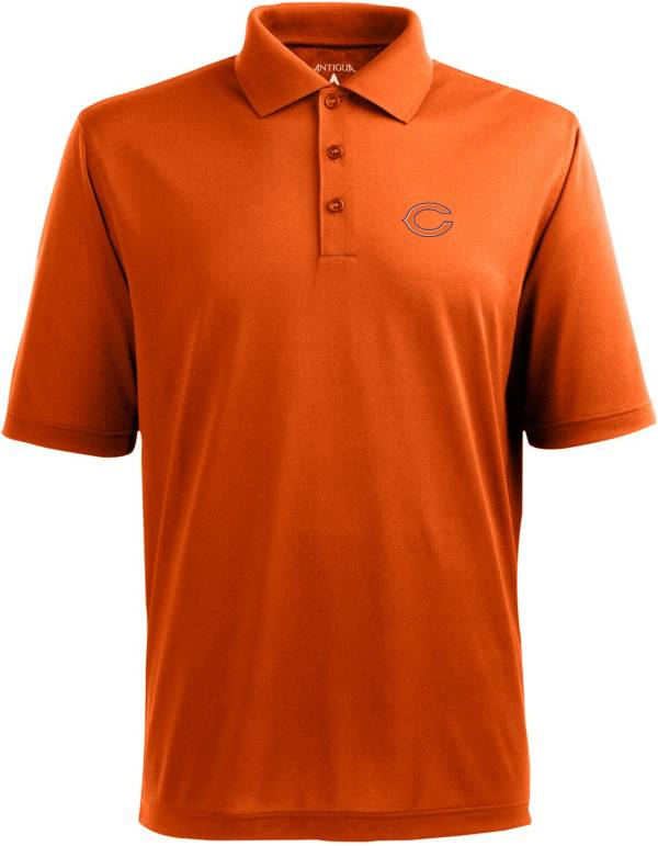 Antigua Men's Chicago Bears Pique Xtra-Lite Orange Polo product image