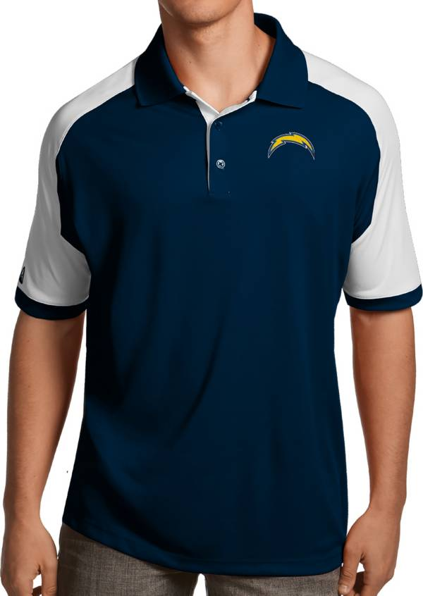 Antigua Men's Los Angeles Chargers Century Navy Polo product image