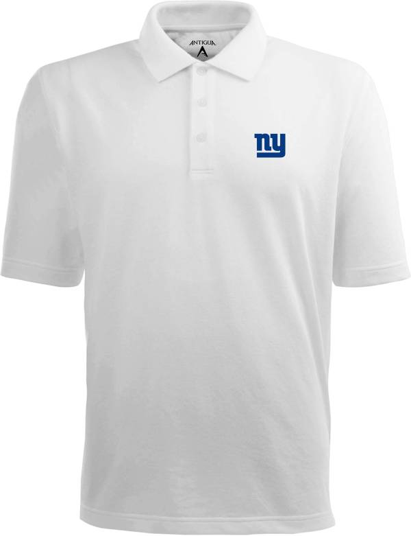 Antigua Men's New York Giants Pique Xtra-Lite White Polo product image