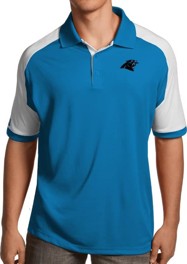 Antigua Men's Carolina Panthers Century Blue Polo product image
