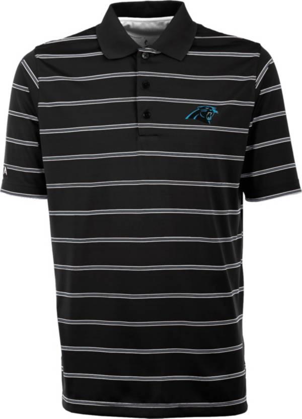 Antiqua Men's Carolina Panthers Black Deluxe Polo product image