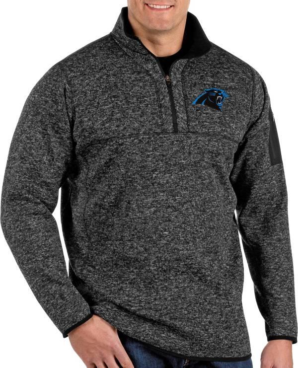 Antigua Men's Carolina Panthers Fortune Black Pullover Jacket product image