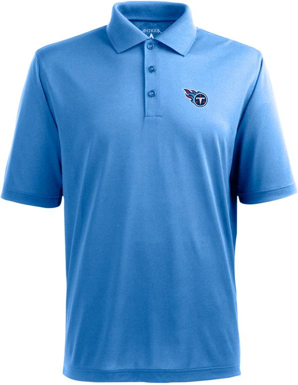 Antigua Men's Tennessee Titans Pique Xtra-Lite Blue Polo product image