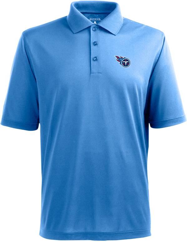 Antigua Men's Tennessee Titans Pique Xtra-Lite Blue Polo product image