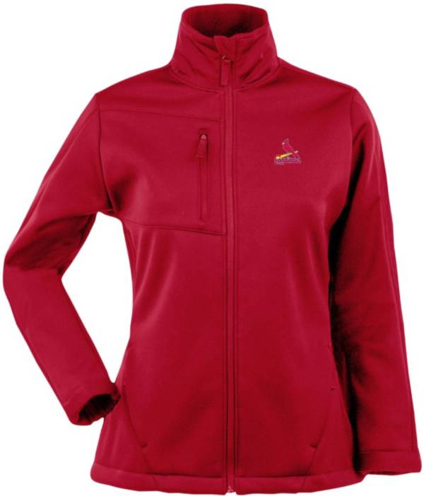 Antigua Women's St. Louis Cardinals Red Traverse Soft Shell Full-Zip Jacket product image