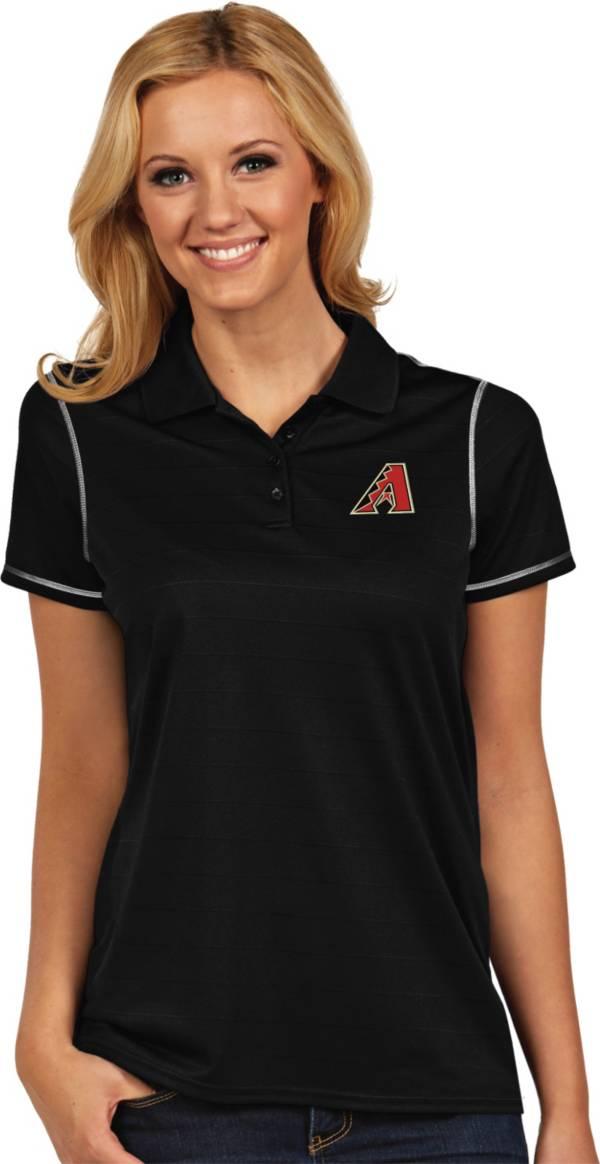 Antigua Women's Arizona Diamondbacks Icon Black Performance Polo product image