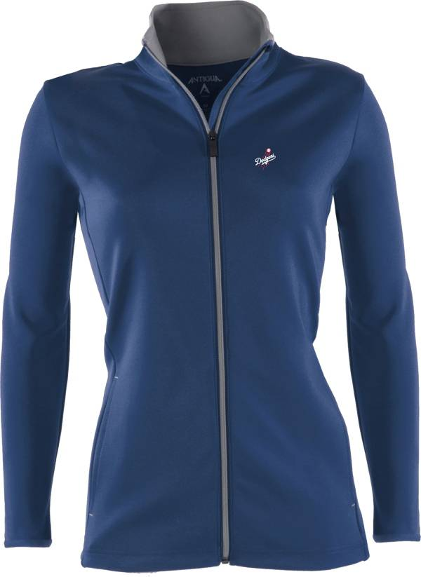 Antigua Women's Los Angeles Dodgers Leader Royal Full-Zip Jacket product image