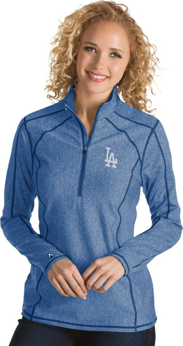 Antigua Women's Los Angeles Dodgers Royal Tempo Quarter-Zip Pullover product image
