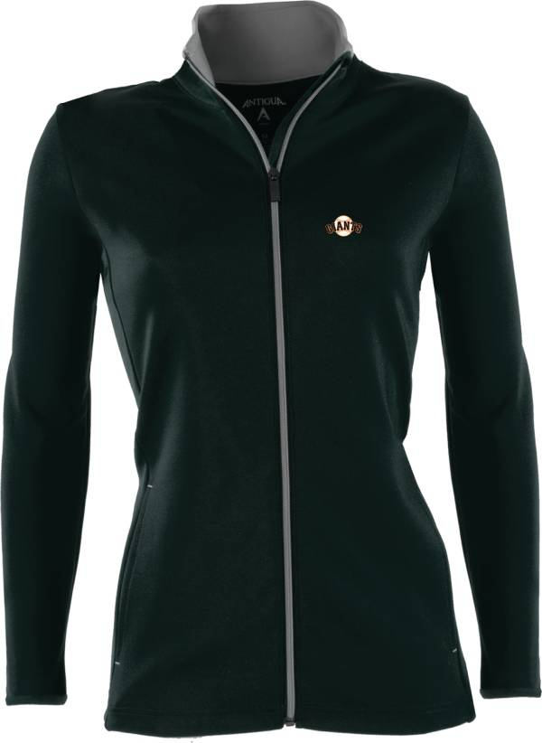 Antigua Women's San Francisco Giants Leader Black Full-Zip Jacket product image