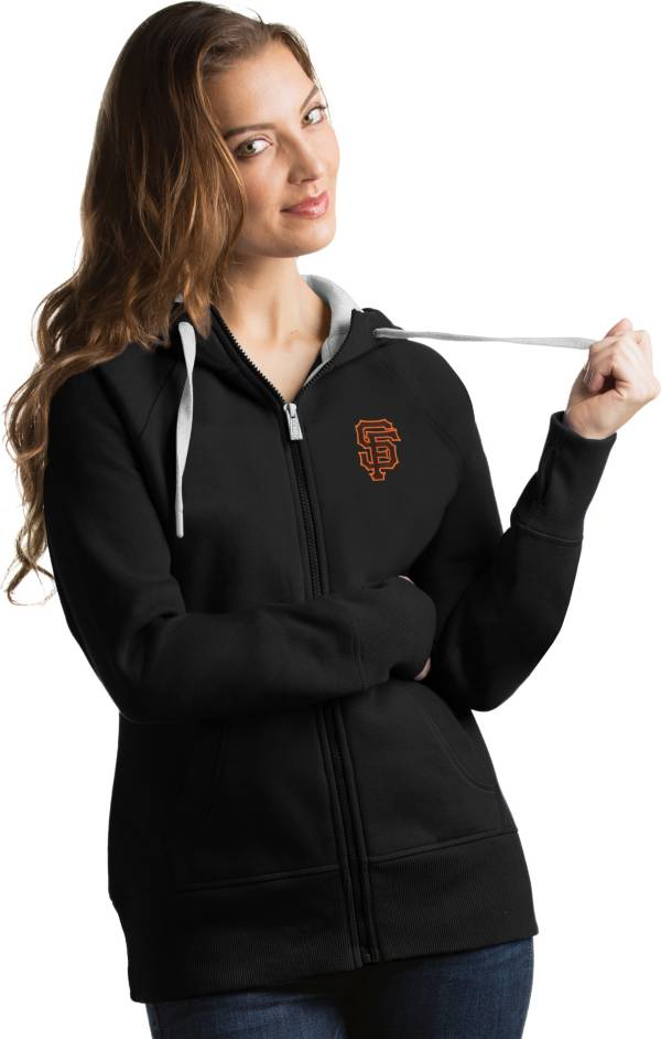 Antigua Women's San Francisco Giants Black Victory Full-Zip Hoodie product image
