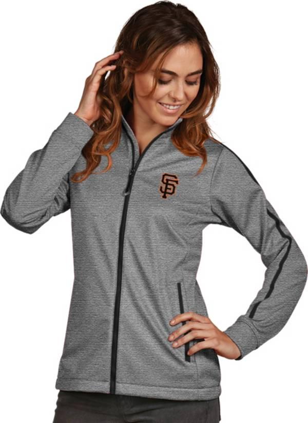 Antigua Women's San Francisco Giants Grey Golf Jacket product image