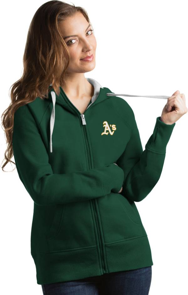 Antigua Women's Oakland Athletics Green Victory Full-Zip Hoodie product image