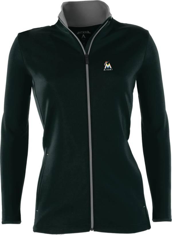 Antigua Women's Miami Marlins Leader Black Full-Zip Jacket product image