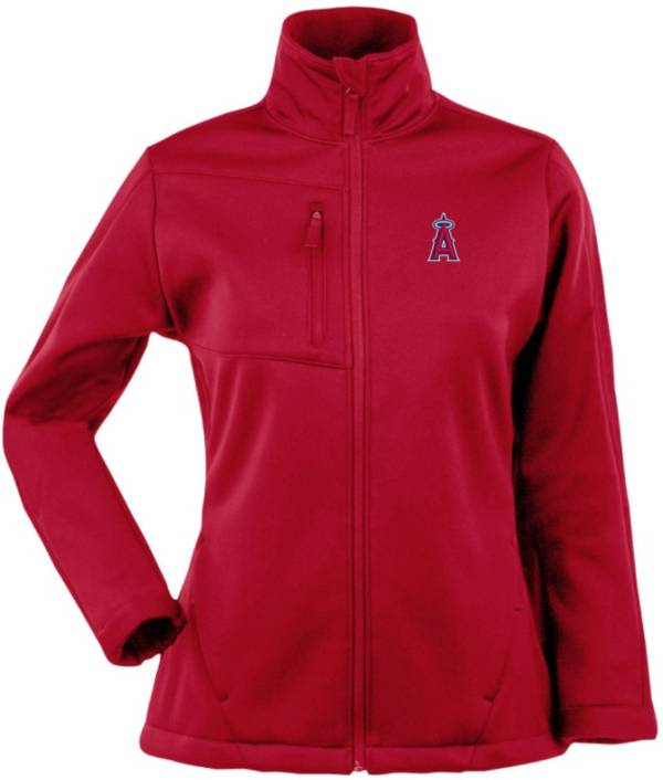 Antigua Women's Los Angeles Angels Red Traverse Soft Shell Full-Zip Jacket product image