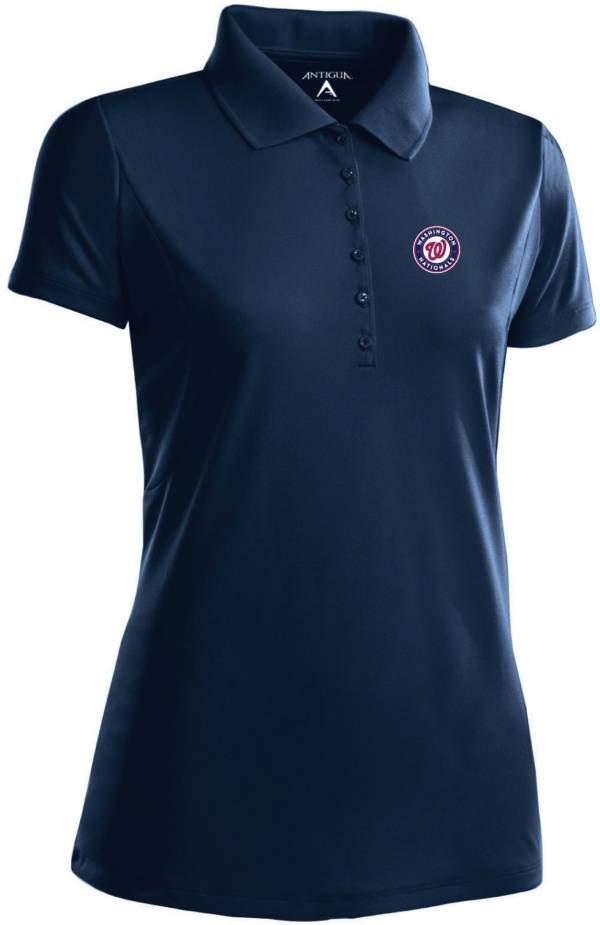 Antigua Women's Washington Nationals Navy Xtra-Lite Pique Performance Polo product image