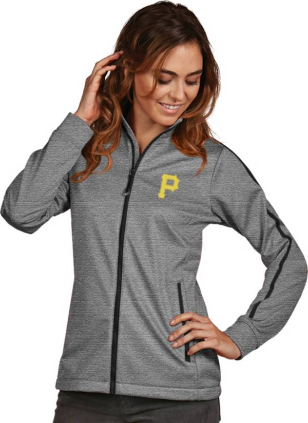 Antigua Women's Pittsburgh Pirates Grey Golf Jacket product image