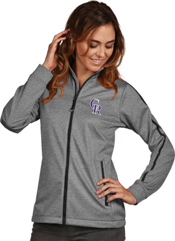 Antigua Women's Colorado Rockies Grey Golf Jacket product image