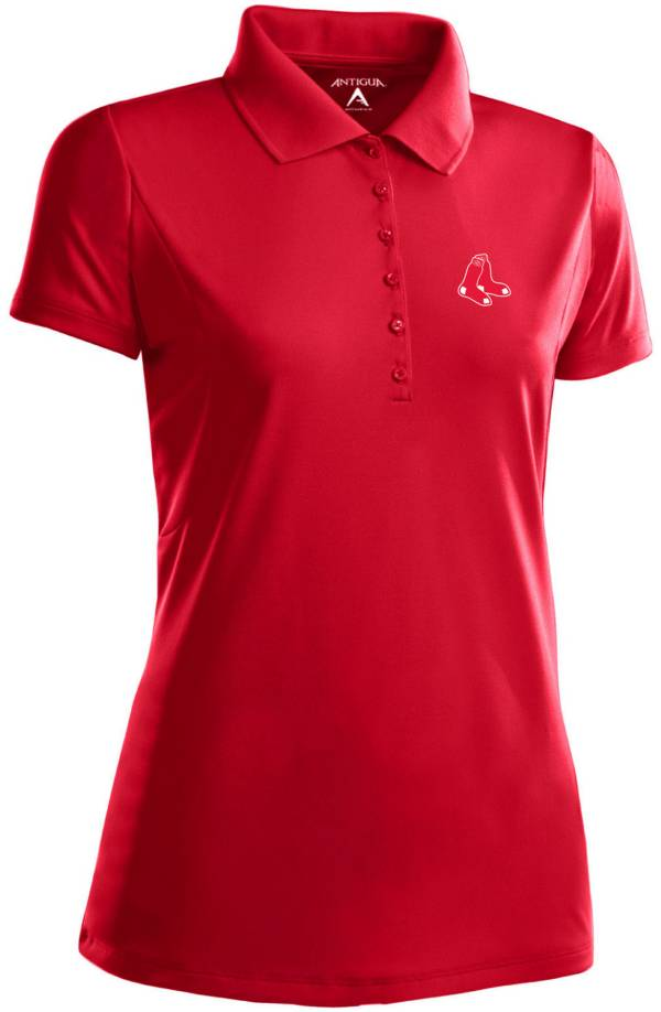 Antigua Women's Boston Red Sox Dark Red Xtra-Lite Pique Performance Polo product image