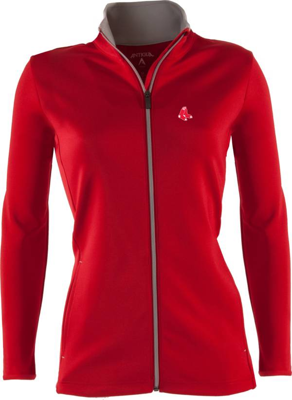 Antigua Women's Boston Red Sox Leader Red Full-Zip Jacket product image