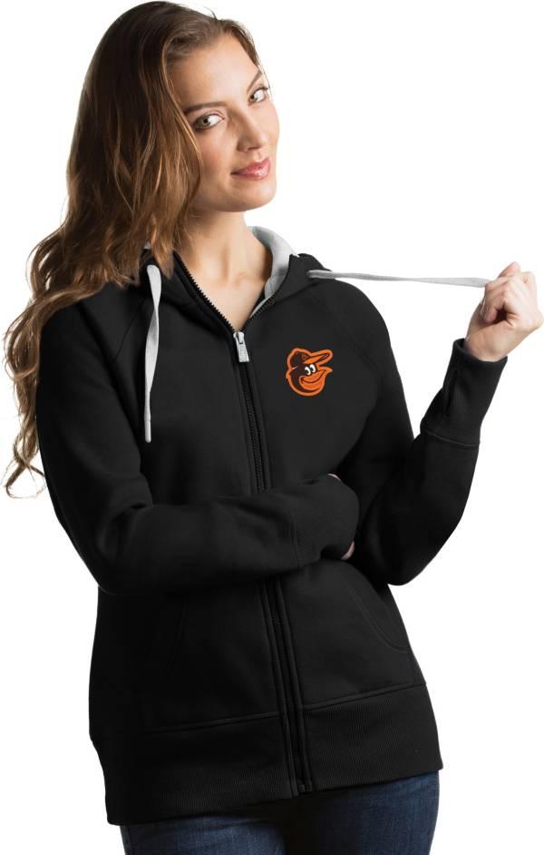 Antigua Women's Baltimore Orioles Black Victory Full-Zip Hoodie product image