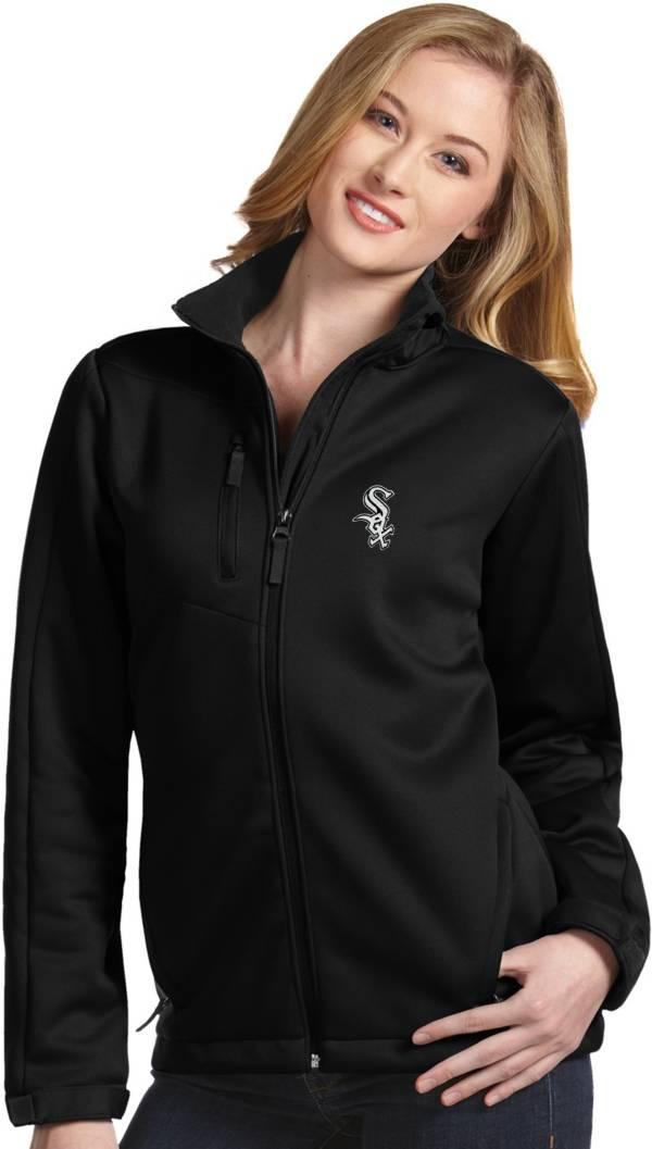 Antigua Women's Chicago White Sox Black Traverse Soft Shell Full-Zip Jacket product image