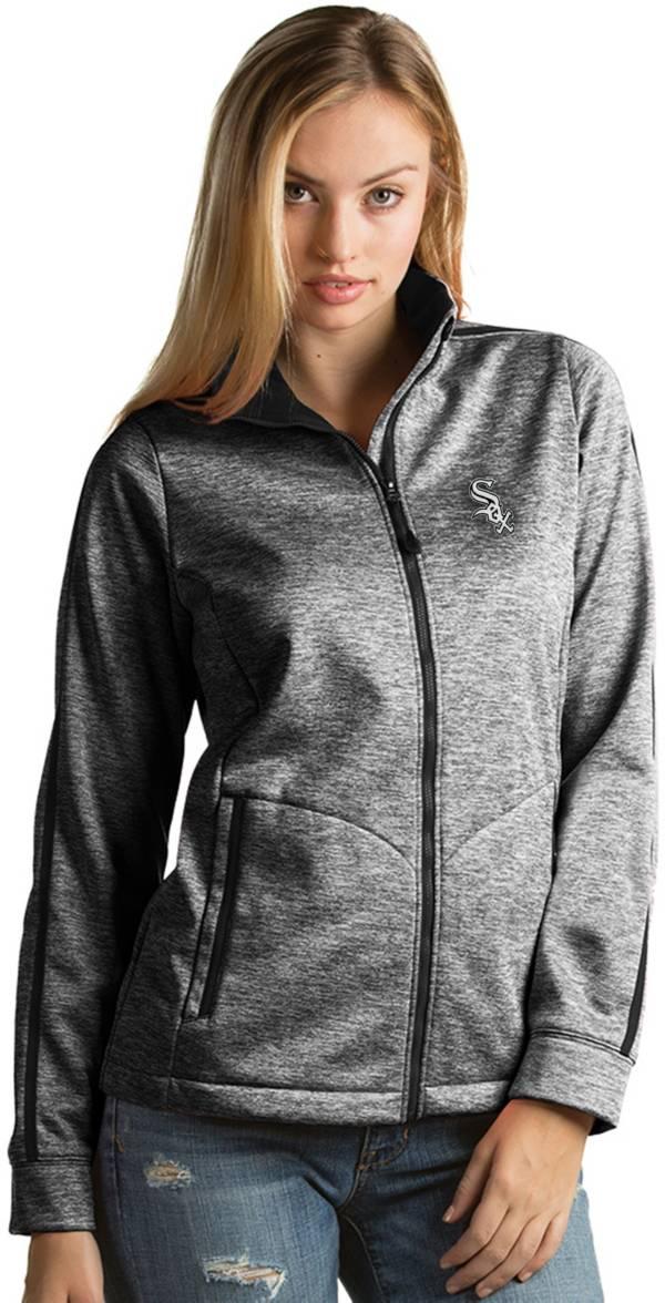 Antigua Women's Chicago White Sox Grey Golf Jacket product image