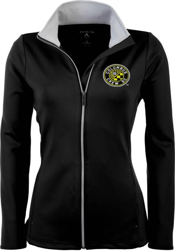 Antigua Women's Columbus Crew Black Leader Full-Zip Jacket product image